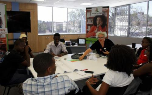 Transmit Yourself workshop, Adelaide Tambo Public Library, Bloemfontein, South Africa, 2018